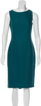 John Galliano Wool Midi Dress