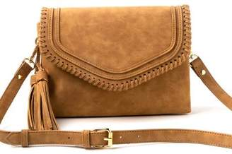 francesca's Martina Whipstitch Crossbody - Rose