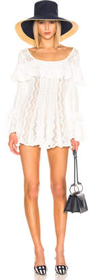 Self-Portrait Self Portrait Flared Knit Tunic in Ivory | FWRD