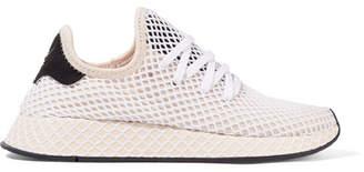 adidas Deerupt Runner Suede-trimmed Mesh Sneakers - White