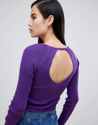 Asos DESIGN cut out back sweater