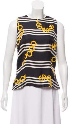 Celine Silk Sleeveless Top