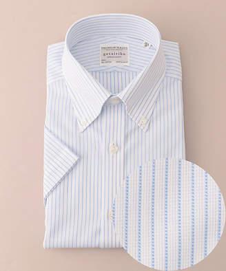 gotairiku (五大陸) - [五大陸] サマープレミアムプリーツ ドレスシャツ ボタンダウン 半袖(HHGOYM0404)