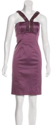Versace Zip-Accented Sleeveless Dress