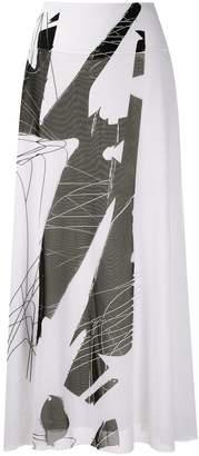 M·A·C Mara Mac printed maxi skirt