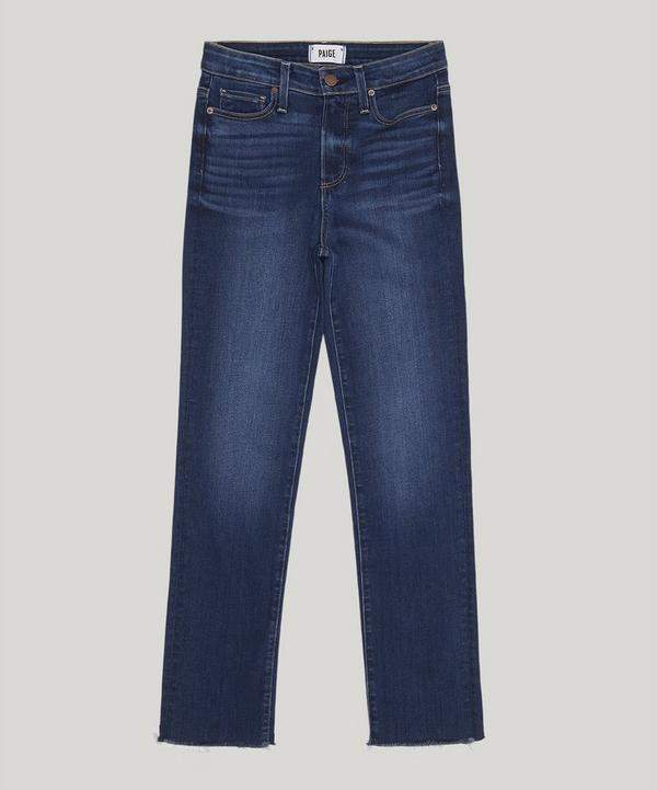 Hoxton Straight Ankle Raw Hem Jeans