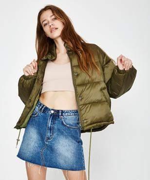 Insight Shook Up Puffer Jacket Khaki