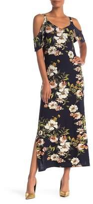 Rachel Roy Off-the-Shoulder Floral Print Maxi Dress