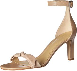 Marc Fisher Womens Dalli Leather Open Toe Casual Ankle Strap, New Sand, Size 5.0