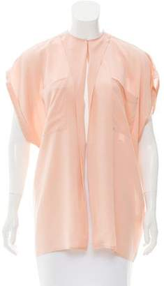 Tome Slit-Accented Silk Blouse
