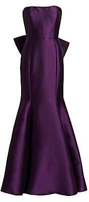 Marchesa Women's Strapless Fishtail Gown