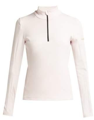 Capranea - Half Zip Fleece Back Top - Womens - Light Pink