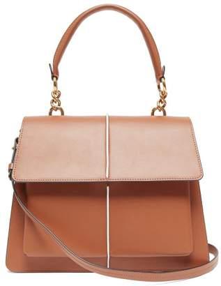 Marni Attache Medium Leather Cross Body Bag - Womens - Brown