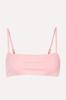 Mara Hoffman Net Sustain Sia Ribbed Bikini Top - Pastel pink