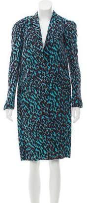 Lanvin Silk Printed Coat