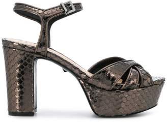 Schutz snakeskin platform sandals