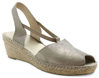 Andre Assous Dainty Slingback Wedge Sandals $169 thestylecure.com
