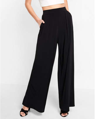 Express high waisted jersey knit wide leg dress pant $59.90 thestylecure.com