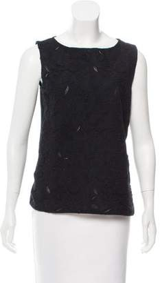 Prada Embroidered Sleeveless Top