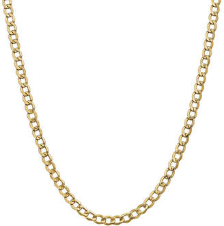 FINE JEWELRY 14K Gold 16 Inch Semisolid Curb Chain Necklace