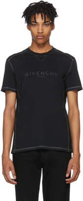 Givenchy Black Ribbed Vintage Logo T-Shirt
