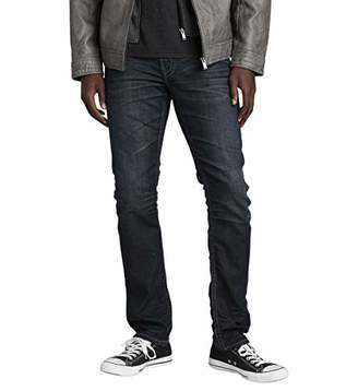 Silver Jeans Men's Moto Faux Leather Jacket with Detachable Hood