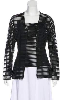 Armani Collezioni Striped Cardigan Set