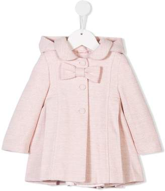 Lapin House lamé hooded flared coat