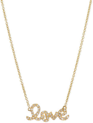 Sydney Evan Gold Diamond Love Necklace, Small