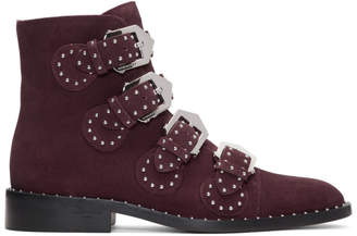Givenchy Burgundy Suede Elegant Boots