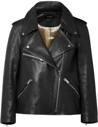 Isabel Marant Bowie Leather Biker Jacket - Black