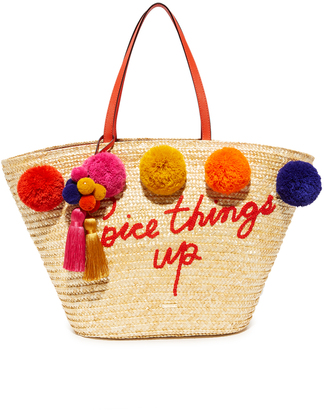Kate Spade New York Large Pom Pom Market Tote $298 thestylecure.com