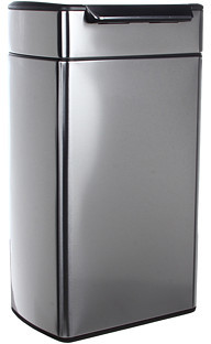 Simplehuman Rectangular Touch Bar Trash Can, Fingerprint-Proof, 40 Liters/10.5 Gallons