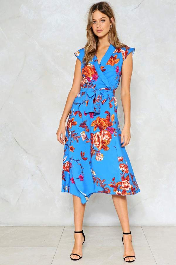 nastygal A Place in the Sun Floral Dress