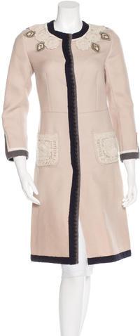 pradaPrada Wool Embroidered Coat