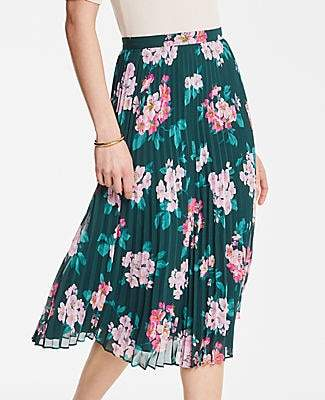 2b38e8a66 Ann Taylor Petite Floral Pleated Skirt
