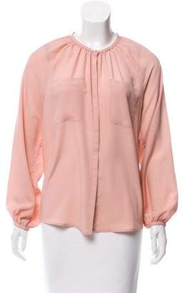 French Connection Long Sleeve Button-Up Top