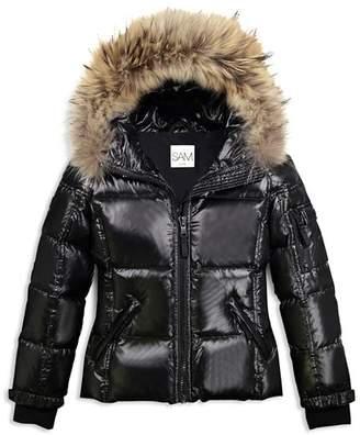 SAM. Girls' Blake Fur-Trimmed Down Jacket - Big Kid