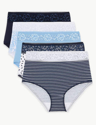 8266f4cf7f93 M&S CollectionMarks and Spencer 5 Pack Lace Cotton Rich Full Brief Knickers