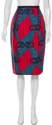 Stella Jean Printed Knee-Length Skirt w/ Tags