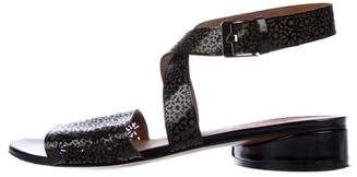Robert Clergerie Fasso Laser Cut Sandals