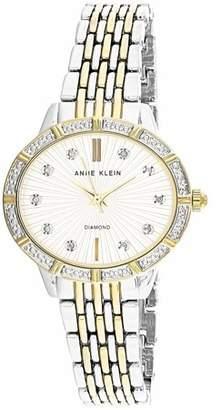 Anne Klein Women's AK-2783SVTT Silver Stainless-Steel Japanese Quartz Fashion Watch
