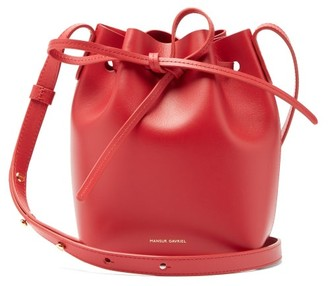Mansur Gavriel Red Lined Mini Mini Leather Bucket Bag - Womens - Red