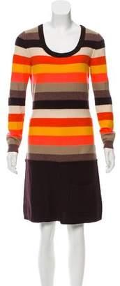 Sonia Rykiel Sonia by Striped Wool Dress