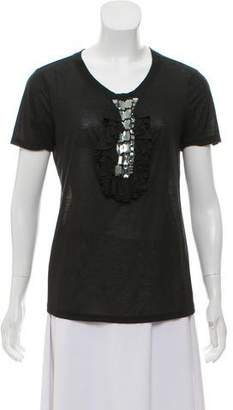 Just Cavalli Embellished Crew Neck T-Shirt