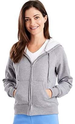 Hanes EcoSmart Women`s Cotton-Rich Full-Zip Hoodie Sweatshirt, W280, L