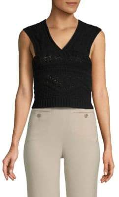 Valentino Cable-Knit Cropped Top