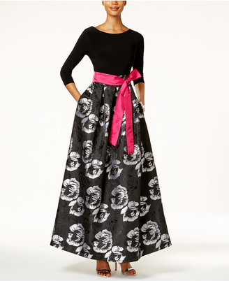 Jessica Howard Floral-Print Taffeta Ball Gown $149 thestylecure.com