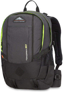 High Sierra NEW Tokopah 30L Raven/Black/Zest Backpack