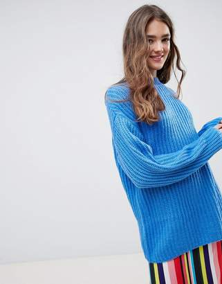 Asos Design DESIGN chunky sweater in rib with crew neck